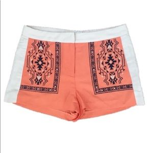 NWOT Jealous Tomato Embroidered Aztec Linen Shorts